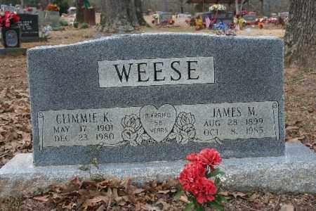 WEESE, JAMES - Crawford County, Arkansas | JAMES WEESE - Arkansas Gravestone Photos