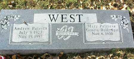 WEST, ANDREW PATRICK - Crawford County, Arkansas   ANDREW PATRICK WEST - Arkansas Gravestone Photos