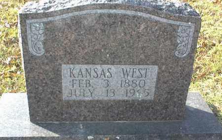 WEST, KANSAS - Crawford County, Arkansas   KANSAS WEST - Arkansas Gravestone Photos