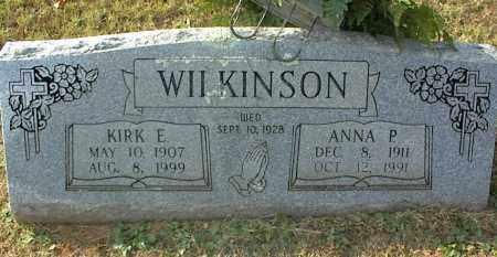 WILKINSON, ANNA P - Crawford County, Arkansas | ANNA P WILKINSON - Arkansas Gravestone Photos