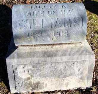 WILLIAMS, LILLIE A - Crawford County, Arkansas   LILLIE A WILLIAMS - Arkansas Gravestone Photos