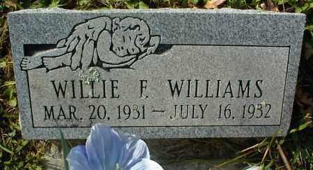 WILLIAMS, WILLIE F - Crawford County, Arkansas | WILLIE F WILLIAMS - Arkansas Gravestone Photos