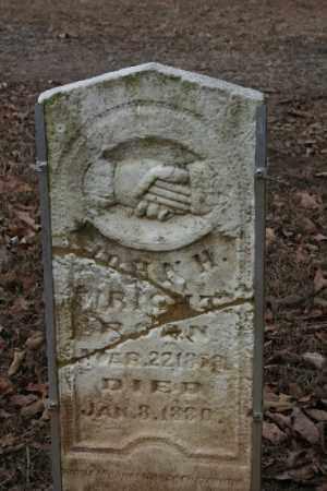 WRIGHT, JOHN H - Crawford County, Arkansas   JOHN H WRIGHT - Arkansas Gravestone Photos
