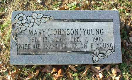JOHNSON YOUNG, MARY - Crawford County, Arkansas | MARY JOHNSON YOUNG - Arkansas Gravestone Photos