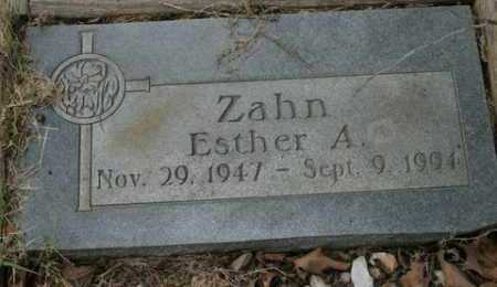 ZAHN, ESTHER A - Crawford County, Arkansas | ESTHER A ZAHN - Arkansas Gravestone Photos