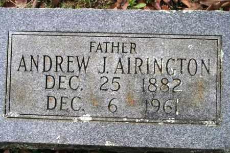 AIRINGTON, ANDREW J - Crawford County, Arkansas | ANDREW J AIRINGTON - Arkansas Gravestone Photos