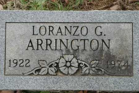 ARRINGTON, LORANZO G - Crawford County, Arkansas | LORANZO G ARRINGTON - Arkansas Gravestone Photos
