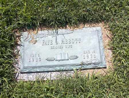 ABBOTT, FAYE L - Crittenden County, Arkansas | FAYE L ABBOTT - Arkansas Gravestone Photos