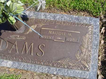 ADAMS, MAUDIE M. - Crittenden County, Arkansas   MAUDIE M. ADAMS - Arkansas Gravestone Photos