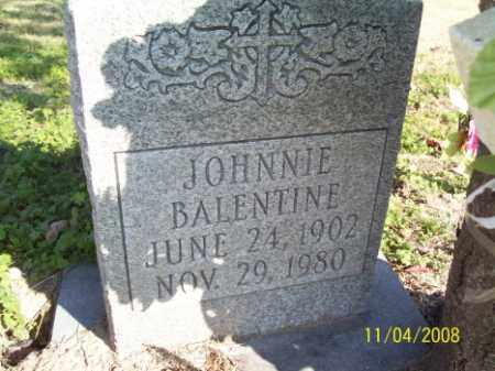 BALENTINE, JOHNNIE - Crittenden County, Arkansas   JOHNNIE BALENTINE - Arkansas Gravestone Photos