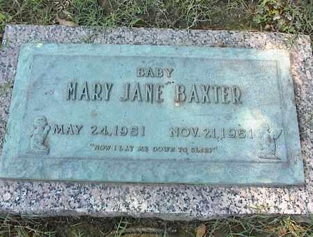 BAXTER, MARY JANE - Crittenden County, Arkansas | MARY JANE BAXTER - Arkansas Gravestone Photos