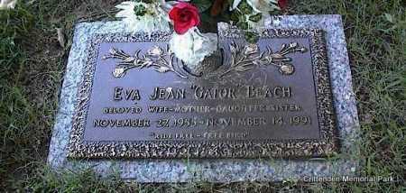 "BEACH, EVA JEAN ""GATOR"" - Crittenden County, Arkansas   EVA JEAN ""GATOR"" BEACH - Arkansas Gravestone Photos"