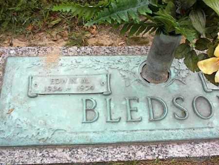 BLEDSOE, EDWIN M - Crittenden County, Arkansas   EDWIN M BLEDSOE - Arkansas Gravestone Photos