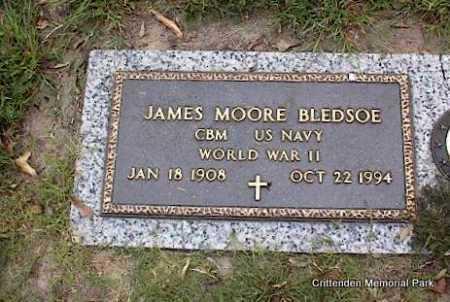 BLEDSOE (VETERAN WWII), JAMES MOORE - Crittenden County, Arkansas | JAMES MOORE BLEDSOE (VETERAN WWII) - Arkansas Gravestone Photos
