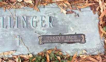 BOLLINGER, TASSYE - Crittenden County, Arkansas | TASSYE BOLLINGER - Arkansas Gravestone Photos