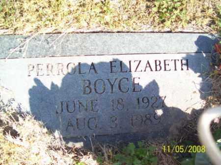 BOYCE, PERROLA ELIZABETH - Crittenden County, Arkansas   PERROLA ELIZABETH BOYCE - Arkansas Gravestone Photos