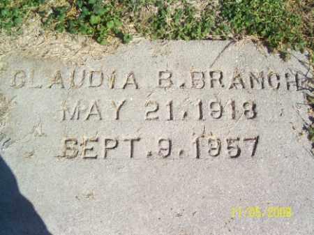 BRANCH, CLAUDIA B. - Crittenden County, Arkansas | CLAUDIA B. BRANCH - Arkansas Gravestone Photos
