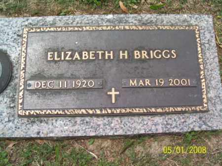 BRIGGS, ELIZABETH H. - Crittenden County, Arkansas | ELIZABETH H. BRIGGS - Arkansas Gravestone Photos