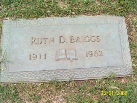 BRIGGS, RUTH D. - Crittenden County, Arkansas | RUTH D. BRIGGS - Arkansas Gravestone Photos