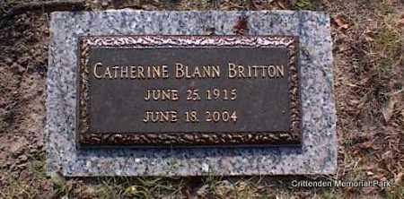BLANN BRITTON, CATHERINE - Crittenden County, Arkansas | CATHERINE BLANN BRITTON - Arkansas Gravestone Photos