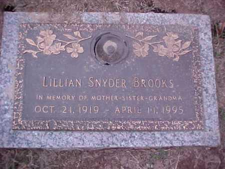 SNYDER BROOKS, LILLIAN - Crittenden County, Arkansas | LILLIAN SNYDER BROOKS - Arkansas Gravestone Photos