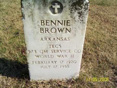 BROWN (VETERAN WWII), BENNIE - Crittenden County, Arkansas | BENNIE BROWN (VETERAN WWII) - Arkansas Gravestone Photos