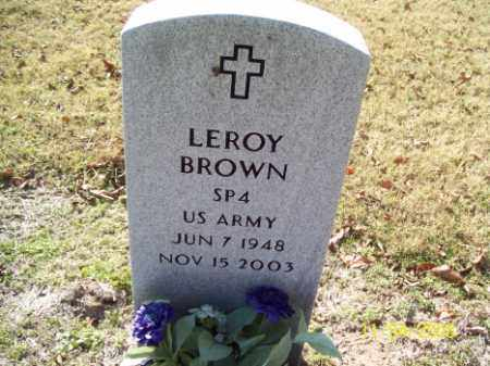 BROWN (VETERAN), LEROY - Crittenden County, Arkansas | LEROY BROWN (VETERAN) - Arkansas Gravestone Photos