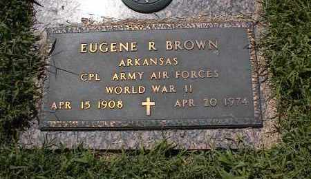 BROWN (VETERAN WWII), EUGENE R - Crittenden County, Arkansas | EUGENE R BROWN (VETERAN WWII) - Arkansas Gravestone Photos