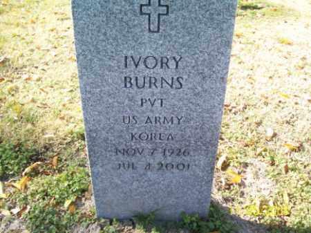 BURNS (VETERAN KOR), IVORY - Crittenden County, Arkansas   IVORY BURNS (VETERAN KOR) - Arkansas Gravestone Photos