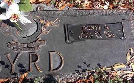 BYRD, DONYE D. - Crittenden County, Arkansas | DONYE D. BYRD - Arkansas Gravestone Photos