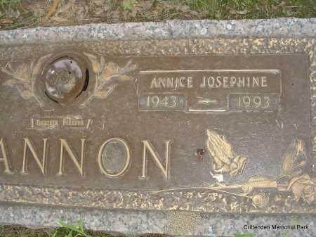 CANNON, ANNICE JOSEPHINE - Crittenden County, Arkansas | ANNICE JOSEPHINE CANNON - Arkansas Gravestone Photos