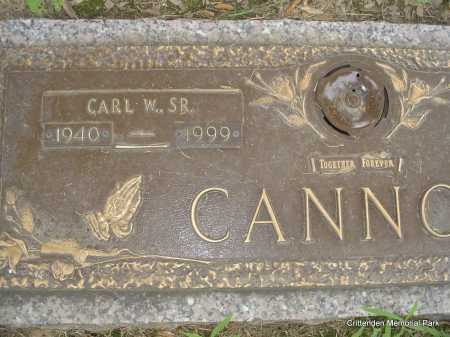 CANNON, SR, CARL W - Crittenden County, Arkansas | CARL W CANNON, SR - Arkansas Gravestone Photos