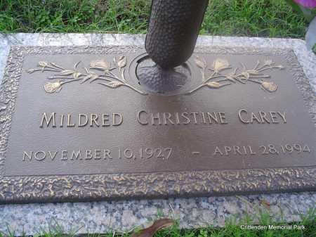 CAREY, MILDRED CHRISTINE - Crittenden County, Arkansas   MILDRED CHRISTINE CAREY - Arkansas Gravestone Photos