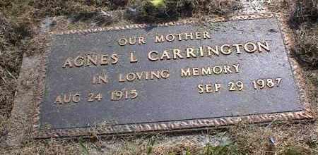 CARRINGTON, AGNES L - Crittenden County, Arkansas   AGNES L CARRINGTON - Arkansas Gravestone Photos