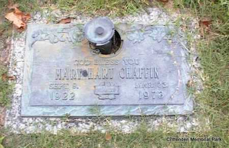 HART CHAFFIN, MARY - Crittenden County, Arkansas | MARY HART CHAFFIN - Arkansas Gravestone Photos