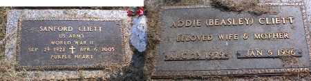 CLIETT (VETERAN WWII), SANFORD - Crittenden County, Arkansas   SANFORD CLIETT (VETERAN WWII) - Arkansas Gravestone Photos