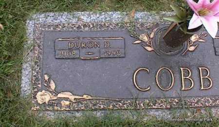 COBB, DURON D - Crittenden County, Arkansas | DURON D COBB - Arkansas Gravestone Photos