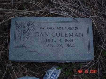 COLEMAN, DAN - Crittenden County, Arkansas | DAN COLEMAN - Arkansas Gravestone Photos