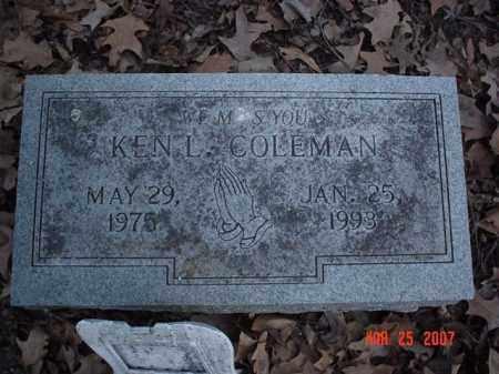 COLEMAN, KEN L. - Crittenden County, Arkansas | KEN L. COLEMAN - Arkansas Gravestone Photos
