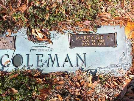 COLEMAN, MARGARET H - Crittenden County, Arkansas   MARGARET H COLEMAN - Arkansas Gravestone Photos