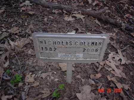 COLEMAN, NICHOLAS - Crittenden County, Arkansas   NICHOLAS COLEMAN - Arkansas Gravestone Photos