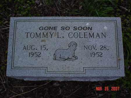 COLEMAN, TOMMY L. - Crittenden County, Arkansas | TOMMY L. COLEMAN - Arkansas Gravestone Photos