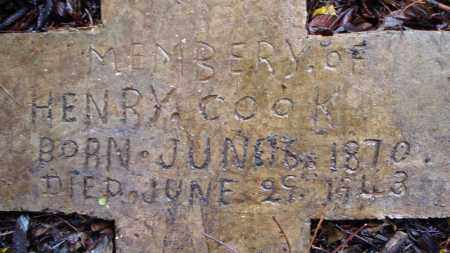 COOK, HENRY (CLOSE UP) - Crittenden County, Arkansas | HENRY (CLOSE UP) COOK - Arkansas Gravestone Photos