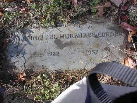 CORDER, JENNIE LEE - Crittenden County, Arkansas | JENNIE LEE CORDER - Arkansas Gravestone Photos