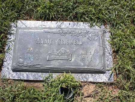 CRISWELL, ANNIE - Crittenden County, Arkansas | ANNIE CRISWELL - Arkansas Gravestone Photos