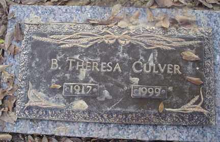 CULVER, B. THERESA - Crittenden County, Arkansas | B. THERESA CULVER - Arkansas Gravestone Photos