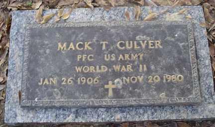 CULVER (VETERAN WWII), MACK T - Crittenden County, Arkansas | MACK T CULVER (VETERAN WWII) - Arkansas Gravestone Photos