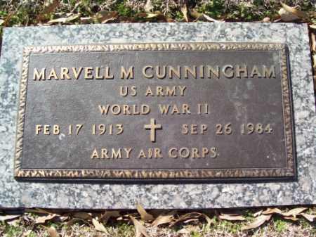 CUNNINGHAM (VETERAN WWII), MARVELL M - Crittenden County, Arkansas   MARVELL M CUNNINGHAM (VETERAN WWII) - Arkansas Gravestone Photos
