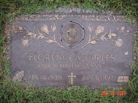 CUPPLES, FLORENCE - Crittenden County, Arkansas | FLORENCE CUPPLES - Arkansas Gravestone Photos
