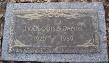DANIEL, IVA LOUISE - Crittenden County, Arkansas | IVA LOUISE DANIEL - Arkansas Gravestone Photos
